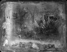 (1853) Possibly the oldest known photographic image of a Native American camp in the Indian Territory, this daguerreotype is believed to show a Plains Indian village in Kansas