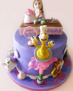 ... cakes celebration cakes cake art beauty and the beast princess party