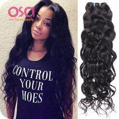 OSA HAIR, Water Wave, 3 Bundles, #1B, Ocean Wave, Wet And Wavy, 100% Human Hair, Virgin Hair, from Aliexpress,