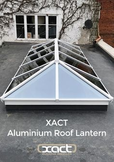 The XACT Aluminium Roof Lantern is a premium quality, slimline, thermally broken system. Click or tap the image to find out more. Pergola With Roof, Pergola Shade, Patio Roof, Pergola Kits, Cheap Pergola, Curved Pergola, Pergola Plans, Diy Pergola, Glass Roof Extension