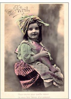 Photo Postcards, Vintage Postcards, April Fools Day, Vintage Fishing, Art Clipart, Paint Shop, Portrait Photo, Vintage Colors, Mini Books