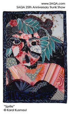 Art quilt by Karol Kusmaul #artquilts #SAQA