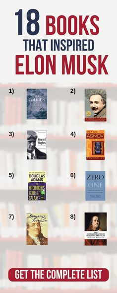 business entrepreneur startups Elon Musks Favorite Books: 18 Recommended Books Discover the 18 books he recommends, that shaped his thinking as a young adult to billionaire. books for entrepreneurs startups Best Books To Read, Good Books, Ya Books, Best Books For Men, Recommended Books To Read, Entrepreneur Books, Leadership, Personal Development Books, Finance Books