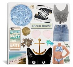 """Beach Day {Inspired by c_xo_is_bae}"" by savvy4g ❤ liked on Polyvore featuring Billabong, Casetify, WithChic, Topshop, Converse, WALL and Pier 1 Imports"
