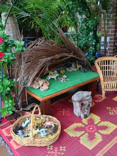 """Another lovely area for small world play from Puzzles Family Day Care ("""",) Play Based Learning, Learning Through Play, School Age Activities, Activities For Kids, Family Day Care, Outdoor Play Spaces, Sensory Boxes, Small World Play, Inspired Learning"""