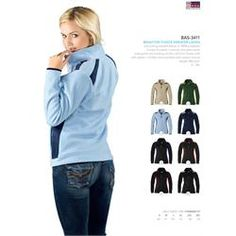 Branded US Basic Brighton Fleece Sweater - Ladies' Corporate Outfits, Corporate Gifts, Promotional Clothing, Fleece Sweater, S Models, Brighton, Sweaters For Women, Logo, Jackets