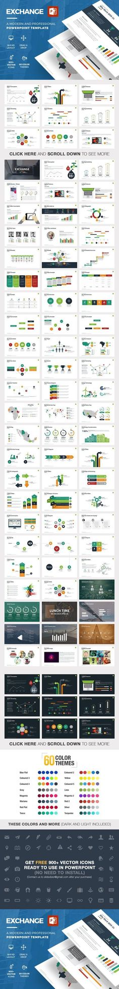 Business infographic : Exchange Powerpoint Template. Business Infographic. $15.00