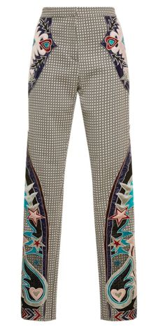Mary Katrantzou Labyrinth Embroidered Trouser <--- These are just fabulous! Casual Chic, Classy Chic, Stockholm Street Style, Paris Street, Looks Style, My Style, Milan Fashion Weeks, London Fashion, Mary Katrantzou