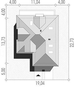 Usytuowanie projektu Maja na działce Roof Structure, Building Structure, Bathroom Floor Plans, Bathroom Flooring, Roof Design, House Design, Roof Plan, Architecture Plan, Autocad