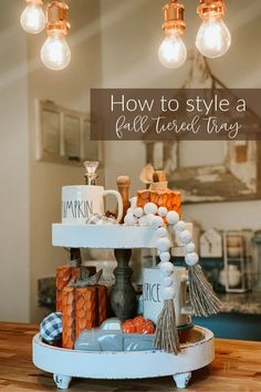 Some may say that August is too early to start decorating for Fall… well, here's what I say to that: DO WHAT YOUR HEART DESIRES!!! If decorating for Fall in 100 degree weather is what makes you happy, then go for it!!Anywho… today, my assistant Hannah is showing you how she decorated her TIERED TRAY for Fall- and I think y'all are going to like it!!!! #TeiredTray #FarmhouseDecor #FallDecor Tiered Stand, Autumn Inspiration, Autumn Ideas, Tray Decor, Fall Halloween, Fall Decorating, Italy Vacation, Holiday Decorations, Holiday Ideas
