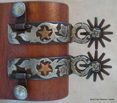 New Handmade Double Mounted Larry Turner Chihuahua Spurs