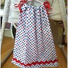 July fourth pillowcase dress