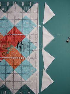 Granny Square Quilt block tutorial. Via http://mamaspark.blogspot.com/2012/04/granny-square-and-tutorial.html