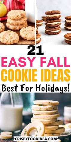 Fall Cookie Recipes, Pumpkin Recipes, Fall Recipes, Holiday Recipes, Best Holiday Cookies, Fall Cookies, Pumpkin Sugar Cookies, Pumpkin Dessert, Fall Baking