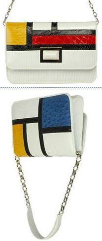 8a03b4057 a shoulder bag referencing the De Stijl art movement of Piet Mondrian.