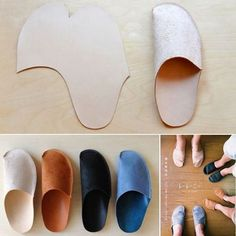 Chaussons en cuir / Leather slippers