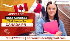 Dhrron Consultancy guide for best courses that can help to apply for Canada PR Call us now and get the best guidance: 99004277799 Email: dhrronstudent@gmail.com Ielts, Read More, How To Apply, Canada, Good Things, Canning, Reading, Home Canning, Word Reading