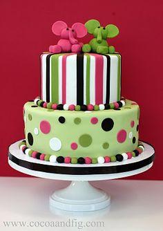 baby elephant baby shower cake