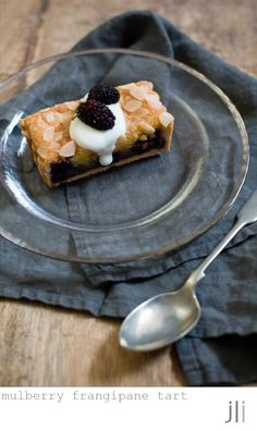 mulberry frangipane tart