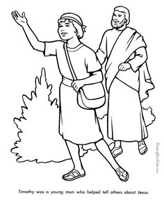 Timothy - Bible coloring page to print