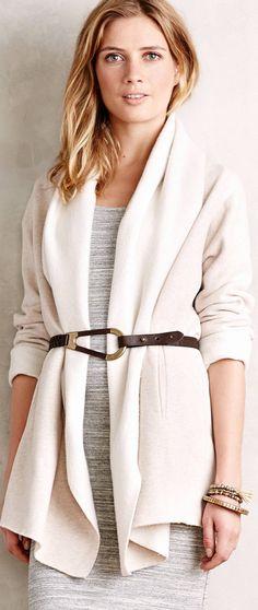 Anthropologie Fleece Wrap Jacket by Sanctuary