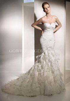 Wedding dress:  Mermaid gown