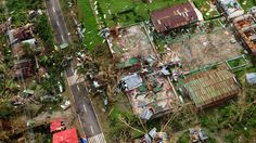 Nov 9, 2013, An aerial shot shows devastation in the aftermath of Super Typhoon Haiyan which smashed into coastal communities in the central Philippines.