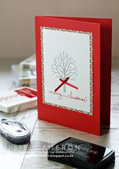 Sheltering Tree + Endless Wishes Stampin up ♥ Christmas Card | UK Independent Stampin' Up! Demonstrator Bibi Cameron