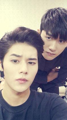 Park Hyung Sik and Dongjun (ZE:A) Selca