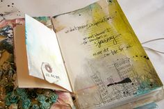 Art journaling inspiration (love the note book!)