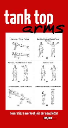 Tank Top Arms Workoutclick For Printable Version With Exercise