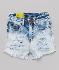 Look what I found on #zulily! Light Bleach Ombre Cutoff Shorts by Machine Jeans Inc. #zulilyfinds