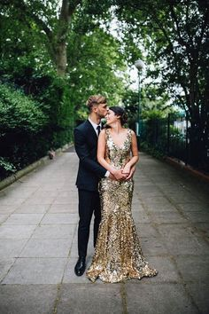 Are you wanting a glamorous wedding dress for your special day? We have a list of several gold glam Wedding dress photos that have stunning look into the design. Gorgeous Wedding Dress, Dream Wedding, Gold Wedding Gowns, Sequin Wedding Dresses, Sparkly Dresses, Gold Sequin Dress, Glitter Dress, Glitter Wedding, Glitter Makeup