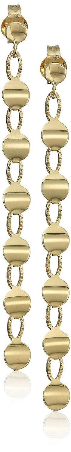 2dc2176b0 TreEsse Italian 10k Yellow Gold Small Circles Post Dangle Earrings * Want  additional info? Click · Chanel ...