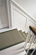 Crucial Trading Rugs @ The Crucial Rug Store- Great Prices / Buy Online Painted Floorboards, White Floorboards, Painted Stairs, White Hallway, Entry Stairs, House Trim, Floor Trim, London House, Rugs On Carpet