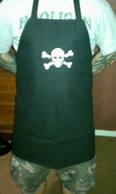 Heavy duty men's apron I made for my hubby. He is a machinist and this keeps coolent off his clothes.