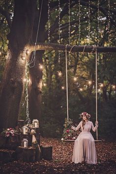 Wonderful setting for a bohemian wedding. Love the added roses.