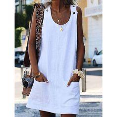 Sommerkleider Damen Lace Up Kleid Tartan Plaid Print Kleid Baumwollkleid L/ässige Cocktailkleider Oansatz Kleid Kurzes Kleid Frauen Sommer Kurzarm Asymmetrisches Minikleid