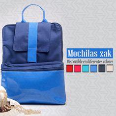 Dale un toque de color a tus días con una de nuestras Mochilas zak azul rey. Disponible en diferentes colores. Zakparis.com