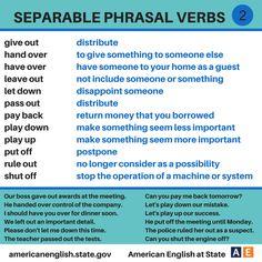 Separable Phrasal Verbs 2