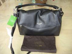 Kate Spade Little Minka Cobble Hill Black Leather Shoulder Bag NWT $378 #katespade #Satchel