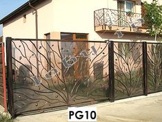 "Porti fier forjat model ""Copac"". Fence, Gate, Home And Garden, Metal, Interior, Room, Furniture, Home Decor, Euro"
