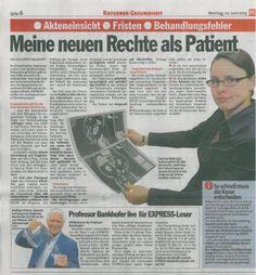Express vom 10.06.2013 - Meine neuen Rechte als Patient - Rechtsanwaltskanzlei Sabrina Diehl