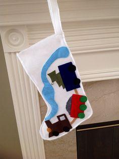 The Manger Felt Christmas Stocking by sugarbeansgirl on Etsy