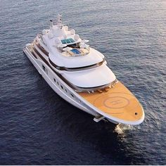 """Q U A N T U M B L U E"" 341ft (104m) Built By Lurssen Yachts and Designed By Tim Heywood"