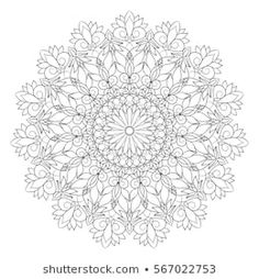 Flower Mandala. Vintage decorative elements. Oriental pattern, vector illustration. Islam, Arabic, Indian, moroccan,spain, turkish, pakistan, chinese, mystic, ottoman motifs. Coloring book page Flower Mandala, Mandala Art, Oriental Pattern, Coloring Book Pages, Moroccan, Mystic, Pakistan, Islam, Ottoman