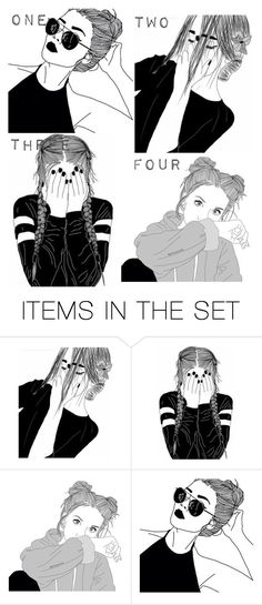 """Your black and white drawing"" by ahriraine ❤ liked on Polyvore featuring art"