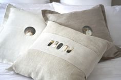 Indigo Living   shopping   Kelly Hoppen Home   Stone Linen Rect Shell Cushion