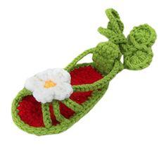 Bigood Strickschuh One Size Strick Schuh Baby Unisex süße Muster 11cm Dunkelgrün Blüte - http://on-line-kaufen.de/bigood/bigood-strickschuh-one-size-strick-schuh-baby-14