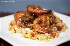 Cajun Shrimp with Maque Choux. One of my favorite recipes!